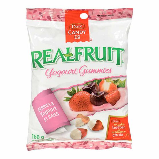 Dare RealFruit Gummies Berries & Yogourt - 160g