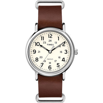Timex Weekender 40 - Brown/Silver/Gold - T2P495AW