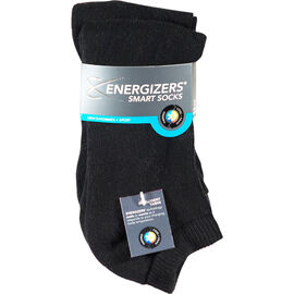Energizers Cushion Men's Sport Socks - 2 pairs - Black