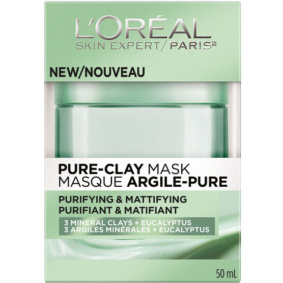 L'Oreal Skin Expert Pure-Clay Mask - Purifying & Matifying - 50ml