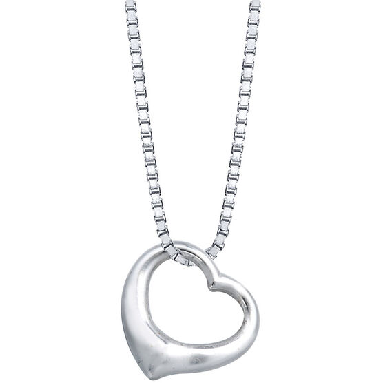 UNWRITTEN Sterling Silver Floating Heart Necklace
