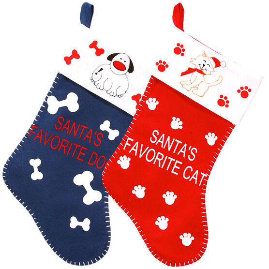 Christmas Santa's Pet Stocking - 18inch - Assorted
