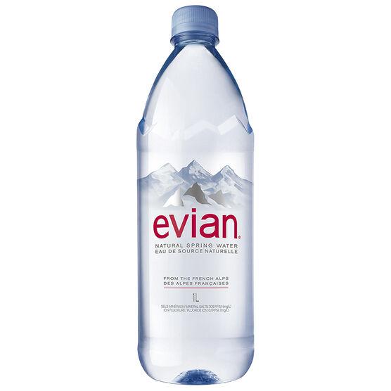 Evian Natural Springs Water - 1L