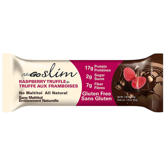NuGo Slim Protein Bar - Raspberry Truffle with High Fibre - 45g