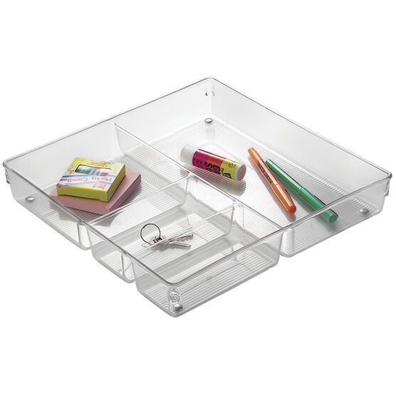 InterDesign Linus Junk Drawer Organizer – Clear