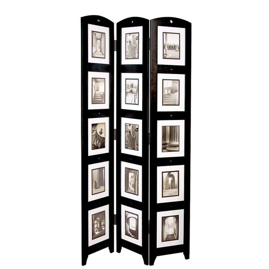 Triple Panel Floor Photo Screen - Black
