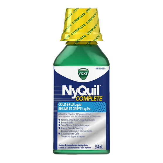 Vicks NyQuil Complete Cold & Flu Liquid - 354ml