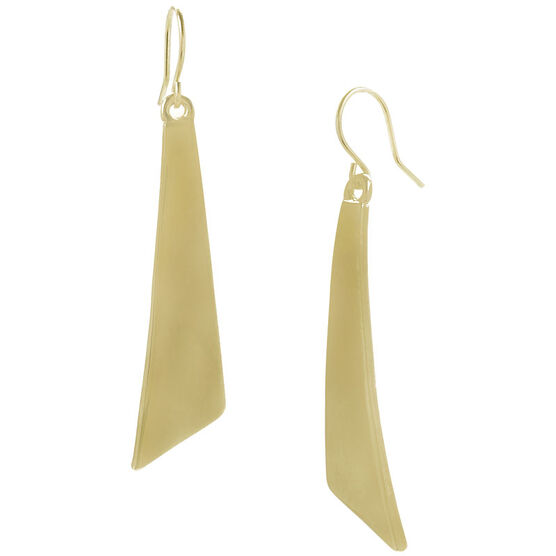 Kenneth Cole Shiny Geometric Earrings - Gold Tone
