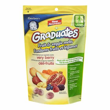 Gerber Graduates Fruit & Veggie Melts Snack - Very Berry Blend - 28g