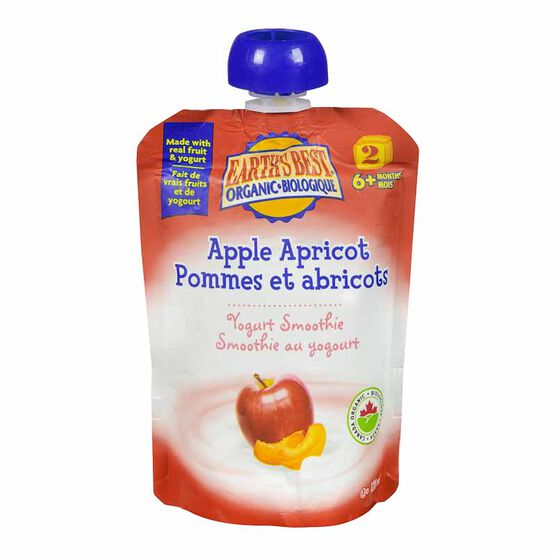Earth's Best Infant Puree Pouch - Apple and Apricot Smoothie - 128 ml