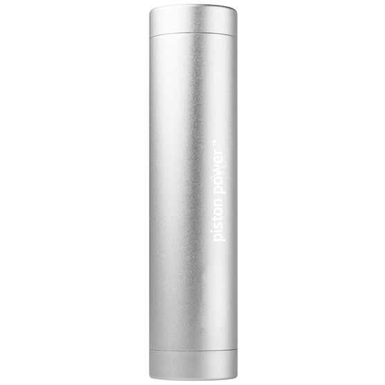 Logiix Piston Power 3400 mAh Portable Battery - Silver - LGX12207