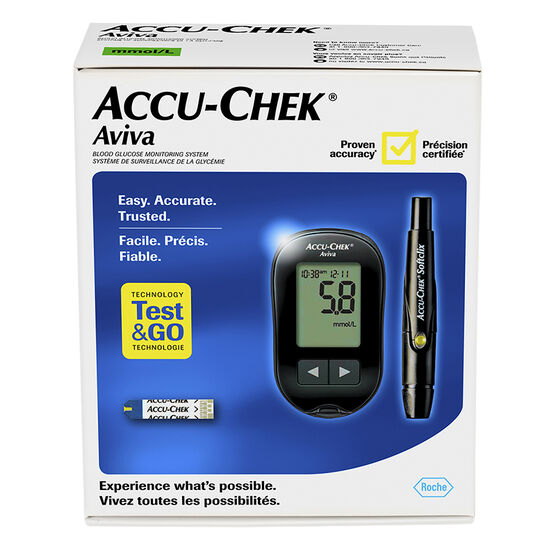 Accu-Check Aviva Blood Glucose Monitoring System - Black
