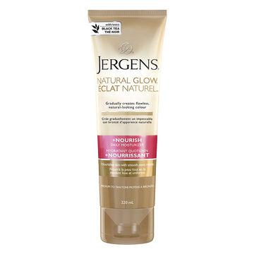 Jergens Natural Glow +Nourish Daily Moisturizer - Medium to Tan - 220ml