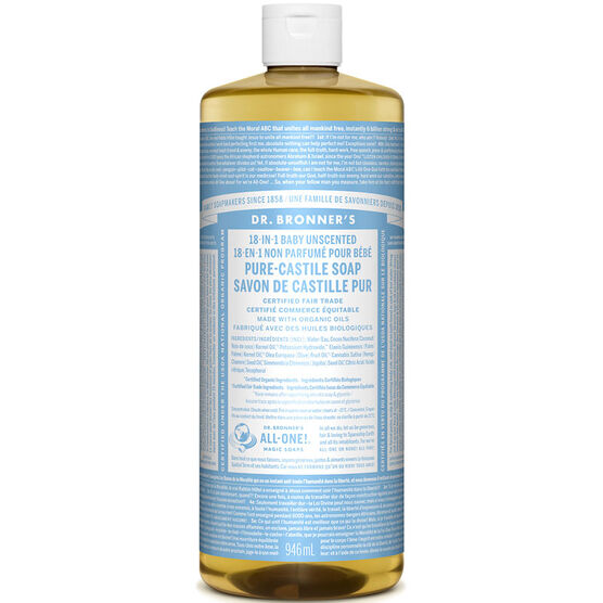 Dr. Bronner's 18-IN-1 Pure-Castile Liquid Soap - Baby - 964ml