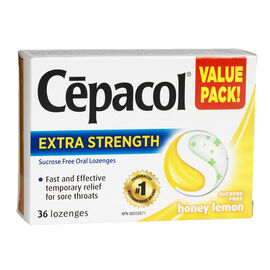 Cepacol Extra Strength Lozenges -  Honey Lemon - 36's