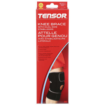 Tensor Knee Brace with Dual Side Stabilizers - One Size