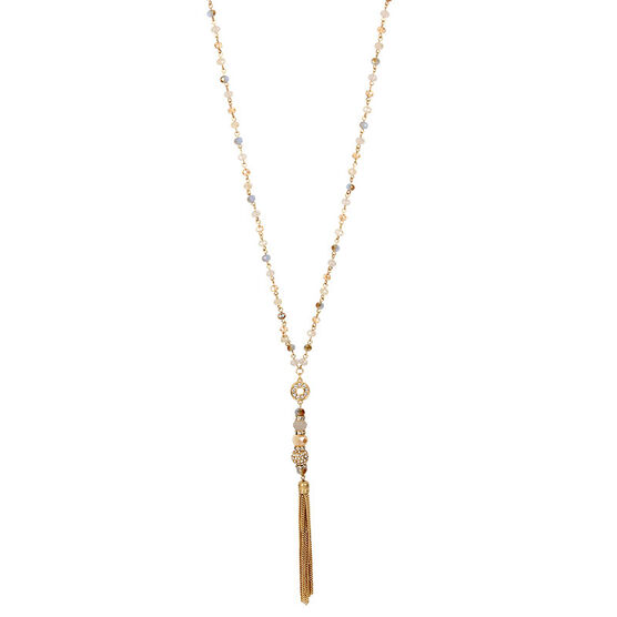 Haskell Tassel Necklace - Blue/Gold