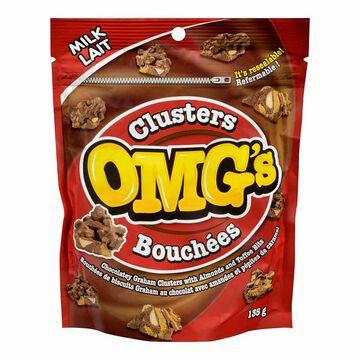 OMG's Milk Chocolately Graham Clusters - 135g
