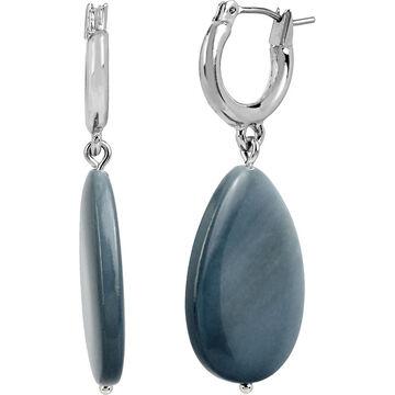 Kenneth Cole Hoop Earrings - Blue/Rhodium