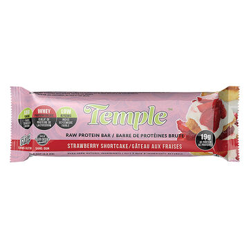 Temple Raw Protein Bar - Strawberry Short Cake - 70g