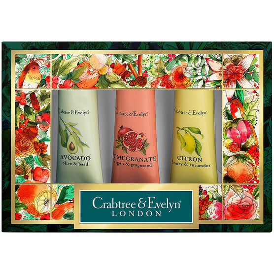 Crabtree & Evelyn Botanicals Hand Therapy Sampler Set - 3x25g