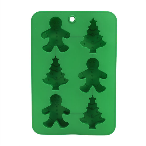 LD Silicone Bakeware - Gingerbread Man & Christmas Tree Mould