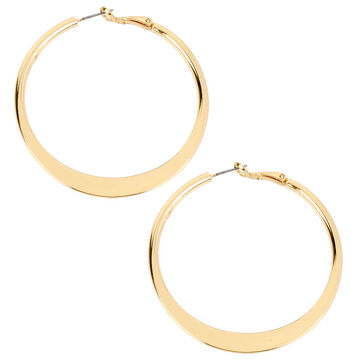 Kenneth Cole Shiny Hoop Earrings - Gold Tone