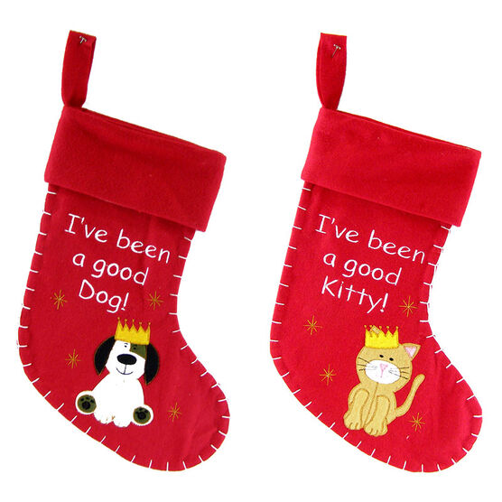 Christmas Forever Pet Stocking - Dog/Cat - XM-US2206 - Assorted