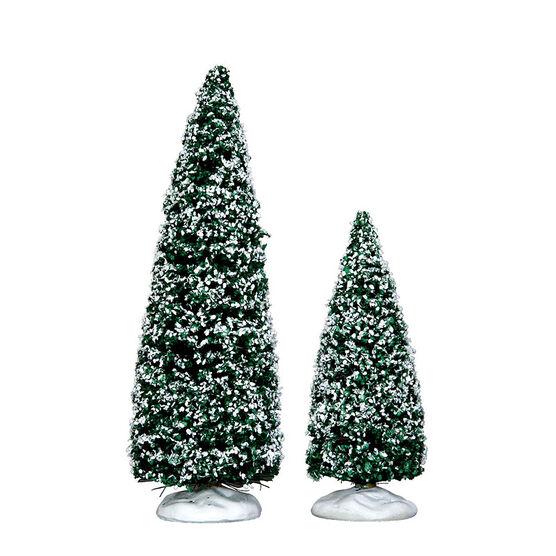 Lemax Snowy Juniper Tree - Set of 2 - Medium and Small