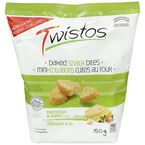 Twistos Baked Snack Crackers - Parmesan & Garlic - 150g