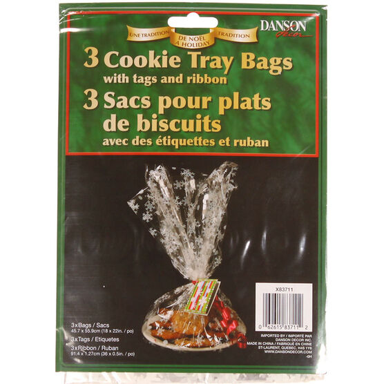 Danson Christmas Cookie Tray Bags - 3 pack