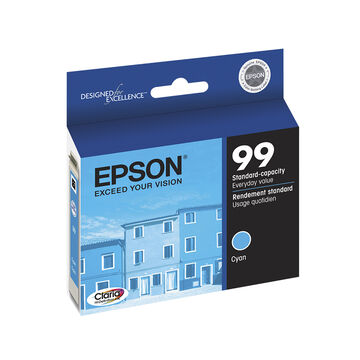 Epson 99 Claria Hi-Definition Ink 99 Standard-Capacity Colour Ink Cartridge - Cyan - T099220-S