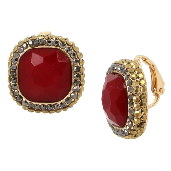Haskell Stud Earrings - Berry/Gold