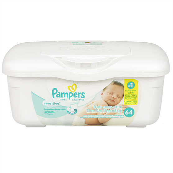 Pampers Wipes - Sensitive - 64's