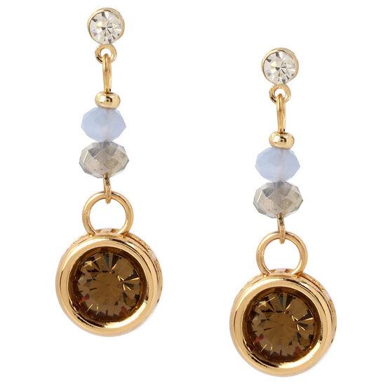Haskell Linear Earrings - Grey/Gold