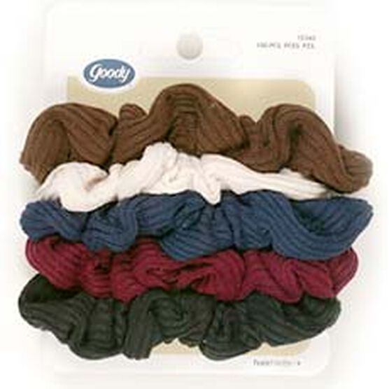 Goody Jersey Ribbed Scrunchies - Small - 5's