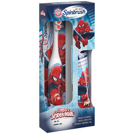 Arm & Hammer Kids Spinbrush with Orajel Toothpaste - Spiderman
