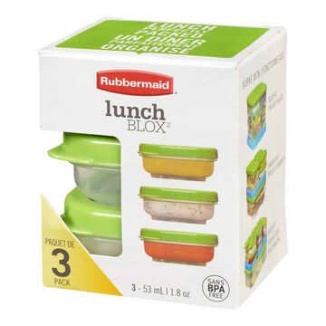 Rubbermaid LunchBlox Salad Dressing - 3 pack