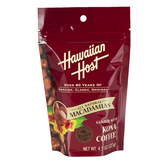 Hawaiian Host Macadamias - Kona Coffee Glazed - 127g