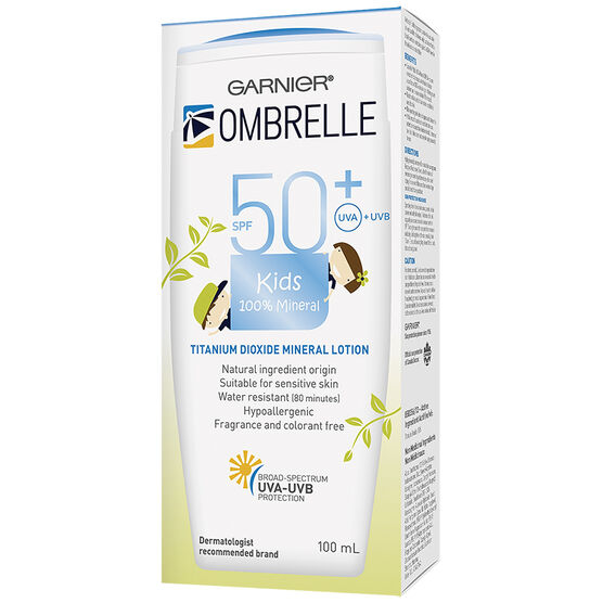 Ombrelle Kids 100% Mineral Sunscreen Lotion - SPF50+ - 100ml