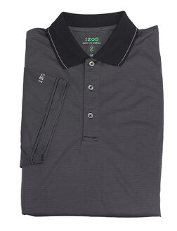 Izod Men's Pencil Stripe Cool-FX Series Polo - Classic Colours - Sizes S-XXL