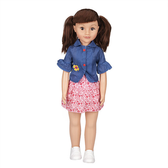 Wispy Walker Doll - Denim Top - 28 inches