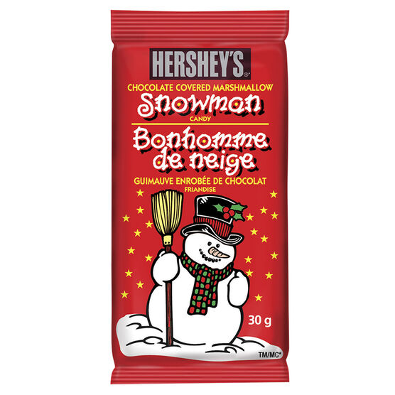Hershey Chocolate Covered Marshmallow Snowman - 30g