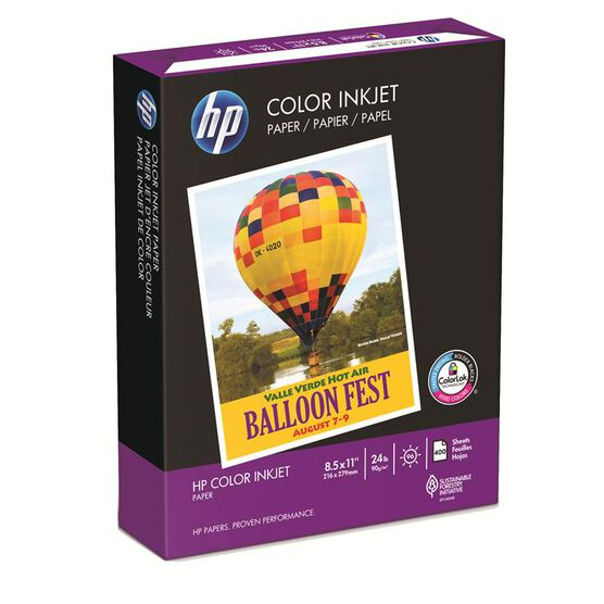 HP Colour Inkjet Paper - 92 Bright White - 24lb - 8.5x11 inch