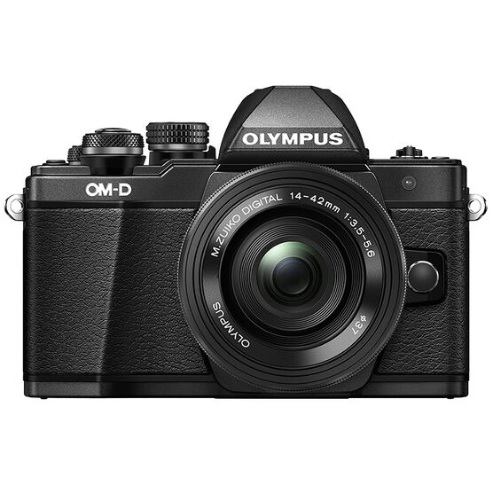 Olympus OM-D E-M10 Mark II with 14-42mm EZ Power Zoom Lens - Black - V207052BU000