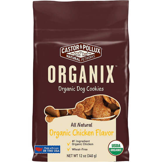 Organix Dog Cookies - All Natural - Organic Chicken Flavour - 340g