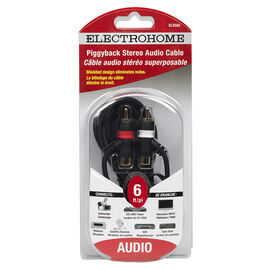 Electrohome 6-ft Piggyback Stereo Cable - ELS563