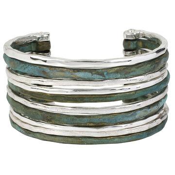 Robert Lee Morris Silver Plated Wide Cuff Bracelet - Patina
