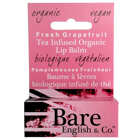 Bare English Tea Infused Organic Lip Balm - Fresh Grapefruit - 4.44ml