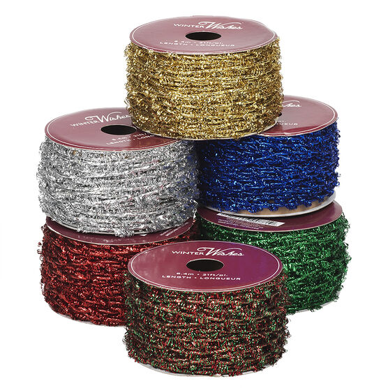 Winter Wishes Stretchy Ribbon - Assorted